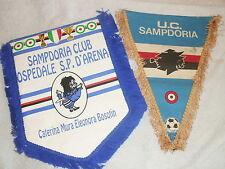 U.C. SAMPDORIA CALCIO  COPPIA GAGLIARDETTI CLUB ULTRAS ULTRA' E SQUADRA