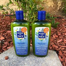 2x Kiss My Face Conditioner Big Body NEW Argan Oil Lavender Chamomile Fine Hair