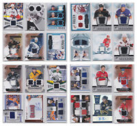 NHL Game Used Numbered Jersey Auto Rare Rookie RC - Choose From List