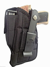 Belt Holster fits S&W Shield with Laser Pro-Tech Black Nylon OWB Front Mag Pouch