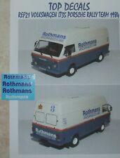 ADDITIF ROTHMANS VOLKSWAGEN LT35 PORSCHE RALLY TEAM 1984 ALTAYA TOP DECALS 1/43