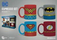 DC Comics Espresso Mugs 4-Pack Uniforms