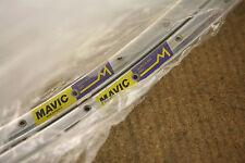 Vintage set (2) NOS NEW Mavic Monthlery Pro silver 36 tubular sew up rims rimset