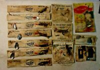 Vintage OLD MCDONALD'S LIF LIK LURES - 14 pieces - MERRY MINNOWS & others