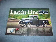 "1947 Ford F-1 Resto-Rod Pickup Article ""Last in Line"" F1"