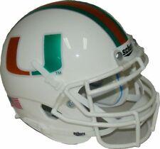 Miami Hurricanes Chrome Schutt Mini Authentic Helmet