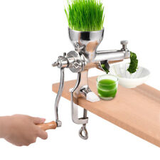 Stainless Steel Kitchen Wheat Grass Wheatgrass Manual Hand Juicer Extractor HG
