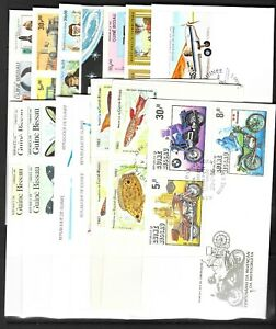 GUINEA BISSAU FIRST DAY COVERS 15 covers 1980s & 1990s  (Ref 0237)