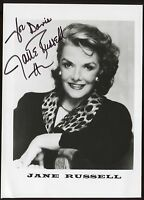 Jane Russell Signed  Photo Autographed Vintage Auto Photograph