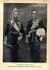 El rey Alfonso XIII en inglés general uniforme & príncipe de gales c.1905