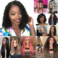 Curly Wavy Brazilian Remy Human Hair Wave No Lace Front Hair Wigs 15 Style Suit