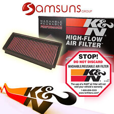 k&n Lavable Filtro deportivo DE AIRE CAMBIO Air Filter Kn 33-2849