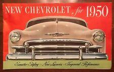 1950 Chevrolet Original Brochure Styleline Fleetline Bel Air Wagon
