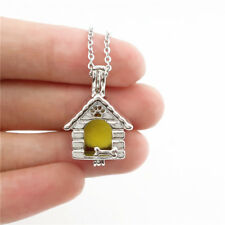 -K645 Pet Dog Puppy House Pearl Cage Locket Kennel Bead Cage Pendant Necklace