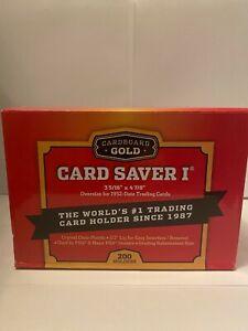 Cardboard Gold - 200 CBG Card Saver I 1 Large Semi Rigid PSA Grading Holders
