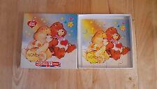 Vintage Care Bears Cartoon main coupe bois 12 Piece Puzzle WADDINGTONS 1984 En parfait état, dans sa boîte