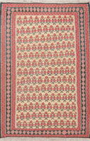 All-Over Kilim Geometric Oriental Area Rug Wool Hand-Woven Home Decor Carpet 4x6