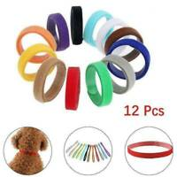 12 PCS Puppy Whelping Collars Newborn ID Fur Babies Bands Litter Dog Kitten Set