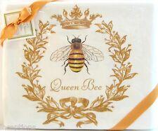 Set/2 Alice's Cottage Cotton Flour Sack Kitchen Tea Towel Queen Bee - NEW