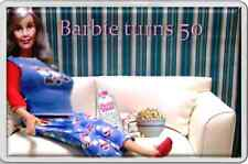 Fun Adult humour Fridge Magnet Barbie doll now 50 years old, unusual little gift