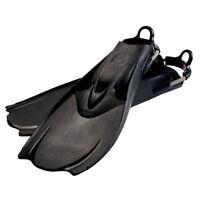 Hollis F-1  Bat Fin OH Scuba Diving Tech Fins w/Spring Strap Black NEW All Sizes