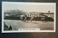 The Grand National  Action Photocard Early 1930's Vintage Card  VGC