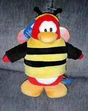 "Disney Club Penguin BUMBLE BEE 7"" Plush STUFFED ANIMAL Toy Never PLayed with"