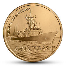 POLAND 2 zlote 2013. Polish ships - guided missile frigate Gen. K. Pulaski