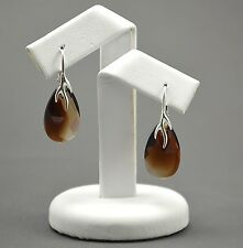 925 Sterling Silver Earrings 22mm PEAR - Topaz Blend - Crystals From Swarovski