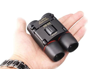 30x60 Compact Small Binoculars Powerful Folding Telescope With Clean Cloth and
