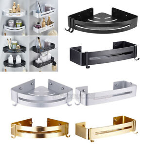 Aluminum Bathroom Shelves Shower Shelf Corner Bath Rack Holder Basket Organizer