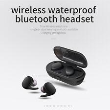 TWS Waterproof Wireless Earphones Mini Earbuds Twins Stereo Bluetooth Headset