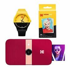 KODAK Smile Instant Print Digital Camera (Red) Watch Bundle
