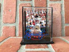 Andruw & Jones Autografiado Firmado Auténtico Dirt Soporte MLB Atlanta Braves