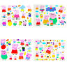 4PCS Cartoon Temporary Waterproof Tattoo Stickers Kids Toy Body Art Pink Pig Lot