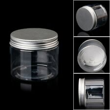 150ml Clear Round PET Jar With Aluminium Screw Lid Food Storage Container Sealed