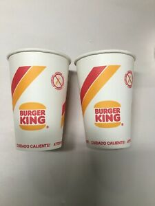 2 - Vintage 1995 Burger King Coffee Cups Un-Used