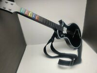 PlayStation PS3 Guitar Hero Wireless Black Les Paul Gibson Controller NO DONGLE