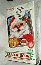 "New listing nib-WonderArt By Caron ""Santa"" 12"" x 12"" Latch Hook Kit (4634)"