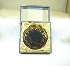 Vintage Mirror Powder Compact In Original Box