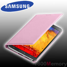 Genuine Samsung Galaxy Note 3 Flip Wallet Leather Case Cover Pink Screen Guard