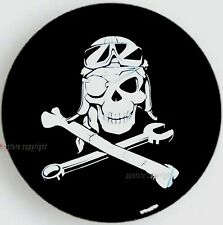 "16"" PIRATE MECHANICAL SKULL SPARE WHEEL TIRE COVER For Jeep Liberty Wrangler L"