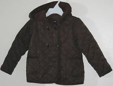babyGAP Girls Size 4 Years Brown Fully-Lined Quilted Hooded Jacket