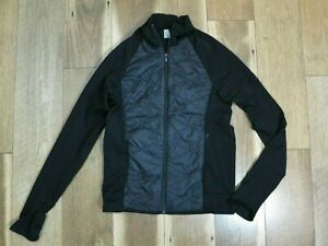Athleta 82598 Women's Black Flurry Force Insulated PrimaLoft Zip Jacket Sz L