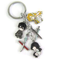 Sword Art Online Kirito Yuuki Asuna Sword Sao Keychain Keyring Pendant 5 charms