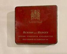 Wwii Naafi Issued Benson and Hedges cigarette tin British Military World War Ii