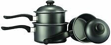 Venta-Pro Chef 3 Piezas cookware saute pan Set con tapa de acero al carbono
