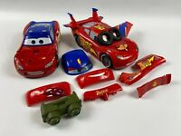 Disney Pixar Cars 3 in 1 Lightning McQueen Change And Race Toy FCV95 Mattel used