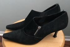 Donald J. Pliner Women's Size 8 1/2 N Black Suede Side Zipper Ankle Boots