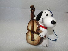 Ceramic Peanuts Japan Snoopy with Violin Ornament